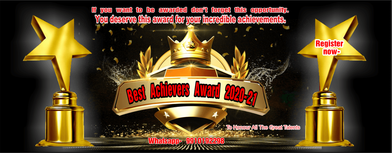 MAGIC BOOK OF RECORD BEST ACHIEVERS AWARD SLIDER