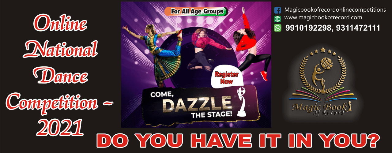 Magic Book of Record Online Dance Competitions 2021