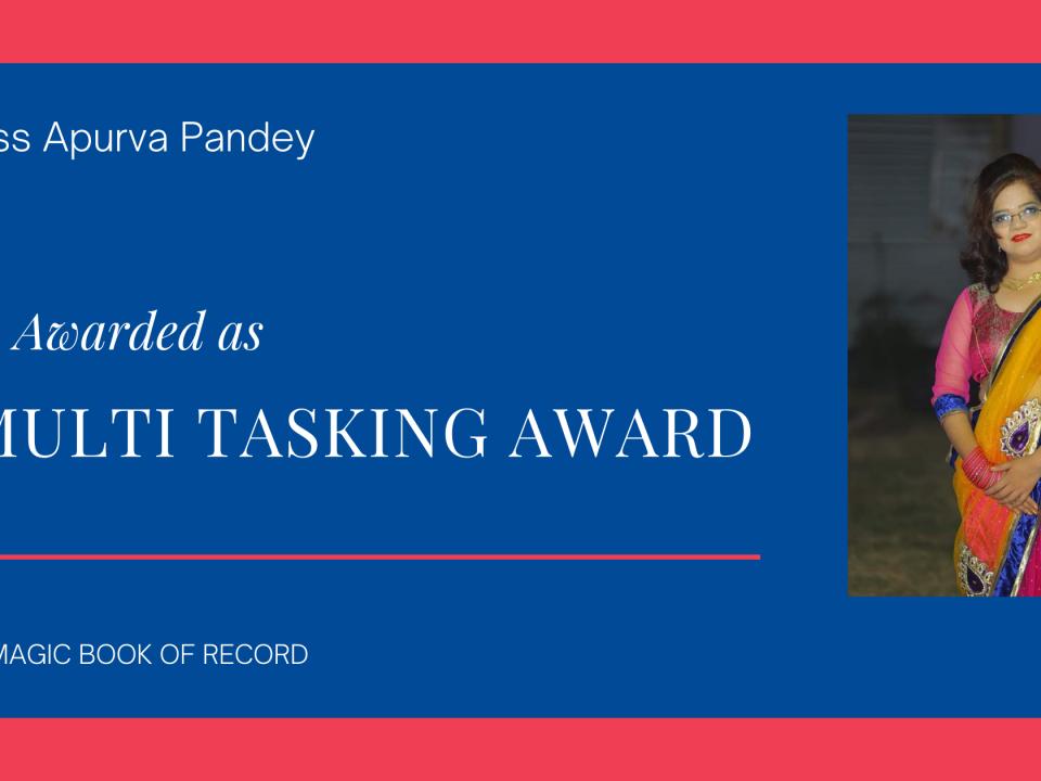 Apurva Pandey Multi-Tasking Award - Magic Book Of Record
