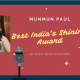 Munmun Paul Best India Shining Award -Magic Book of Record