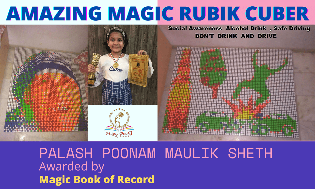 Palash Poonam Maulik Seth Amazing Magic Rubik Cuber - Magic Book of Record