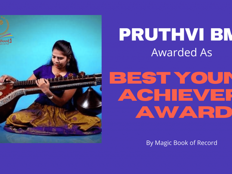 Pruthvi BM Best Young Achievers Award -Magic Book of Record