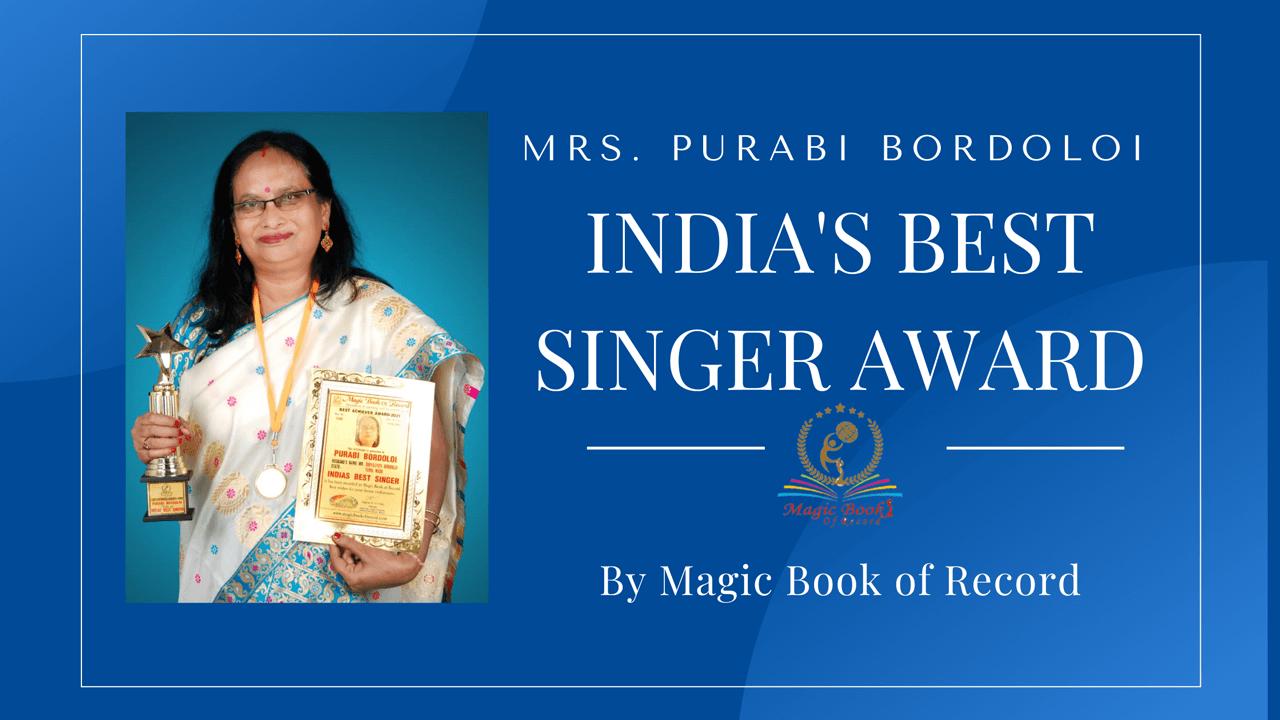 Purabi Bordoloi India's Best Singer Award