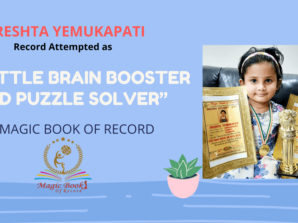 SRESHTA YEMUKAPATI RECORD ATTEMPTED BY MAGIC BOOK OF RECORD