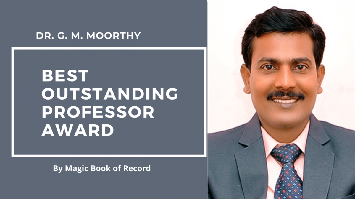 DR. G. M. MOORTHY- Magic Book of Record