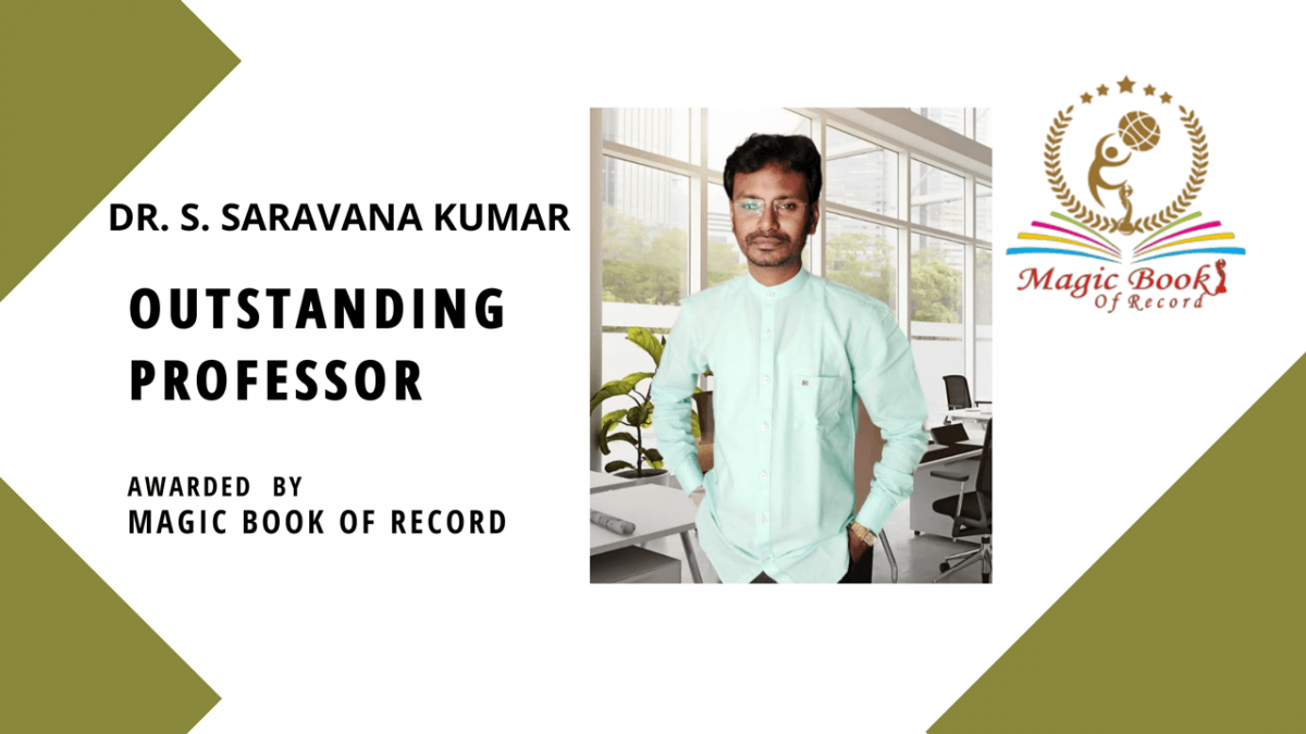 DR. S. SARAVANA KUMAR - Magic Book of Record