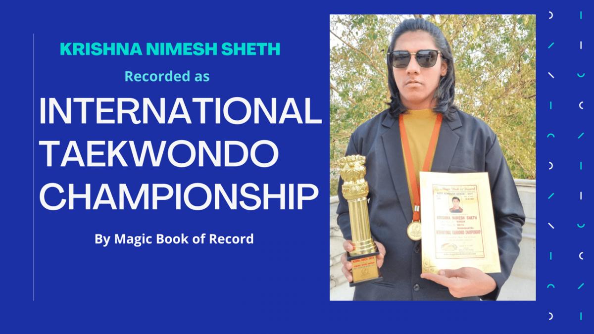 Krishna Nimesh Sheth- Magic Book of Record
