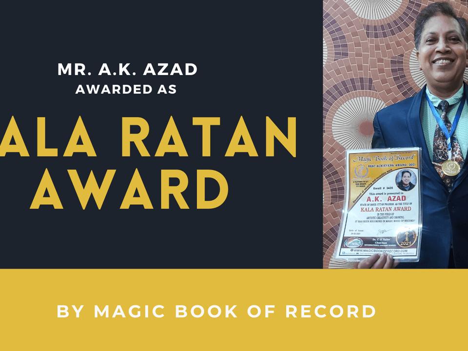 A K AZAD- Magic Book of Record