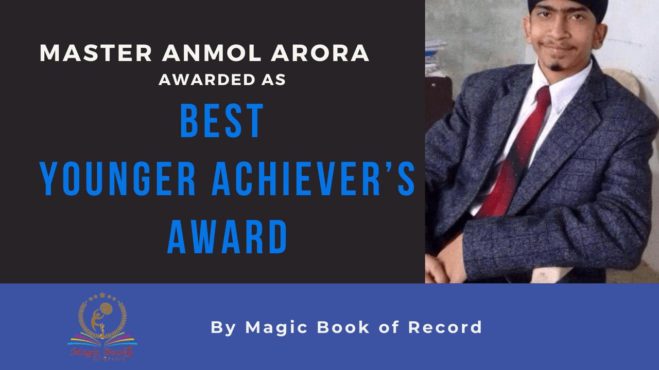 ANMOL ARORA - Magic Book of Record
