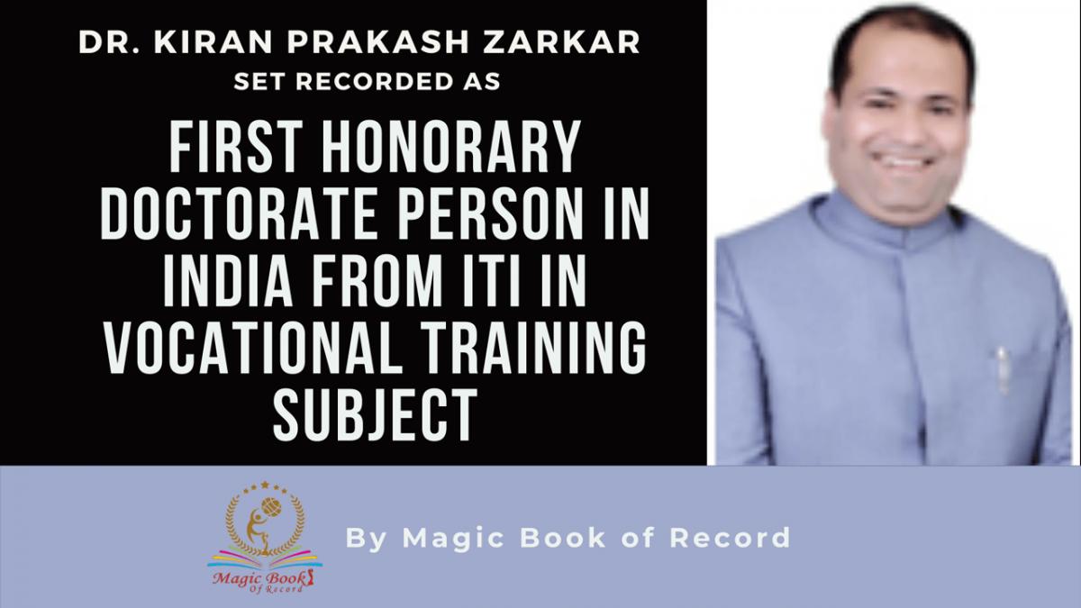 Dr. KIRAN PRAKASH ZARKAR- Magic Book of Record
