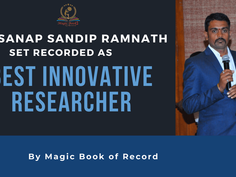 Dr. Sanap Sandip Ramnath- Magic Book of Record