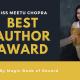 Meetu Chopra Best Author- Magic Book of Record