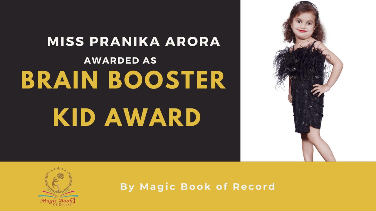 Pranika Arora- Magic Book of Record