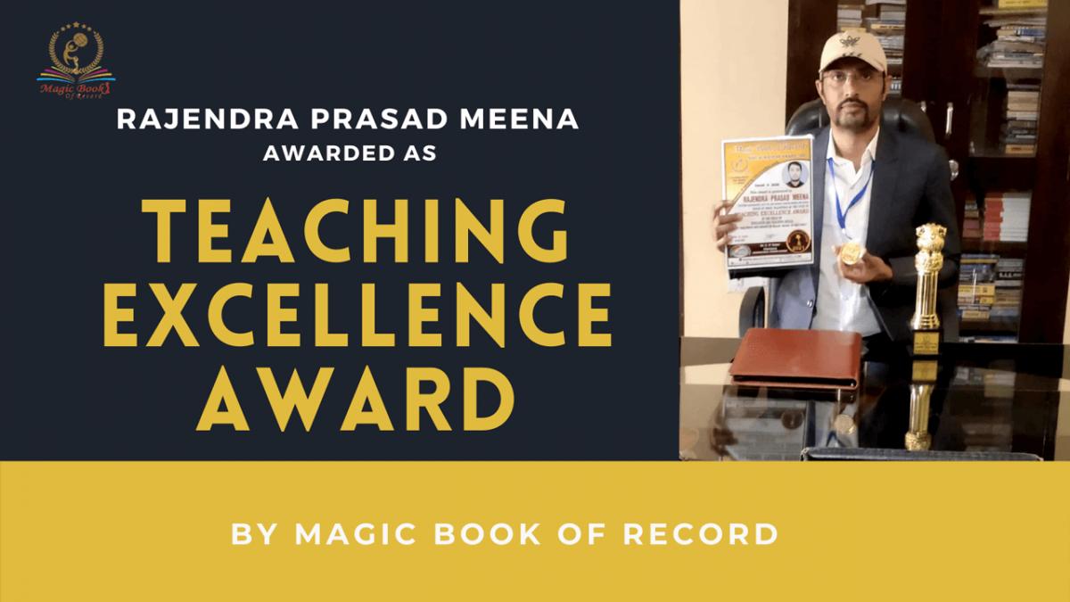 Rajendra Prasad Meena - Magic Book of Record