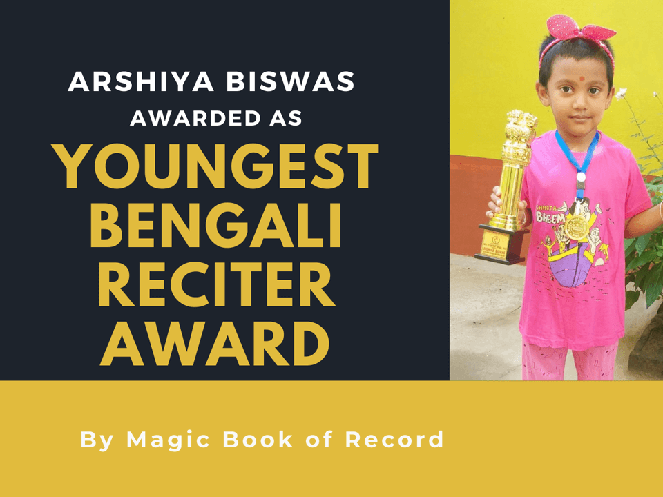 Arshiya Biswas - Magic Book of Record