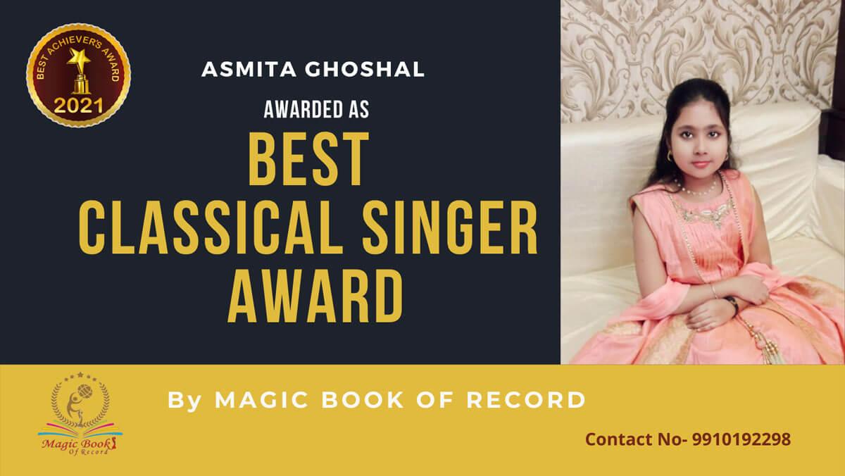 Asmita Ghoshal-West Bengal-Magic Book of Record