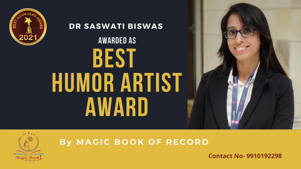 Dr Saswati Biswas-West Bengal-Magic Book of Record