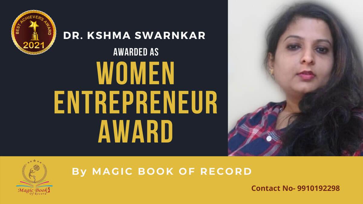 Dr. Kshma Swarnkar - Delhi - Magic Book of Record