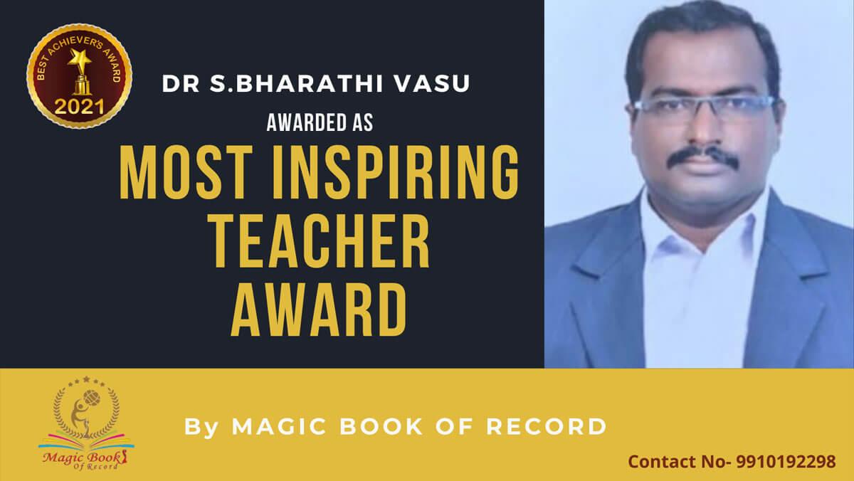 Dr. S. Bharathi Vasu- Tamil Nadu - Magic Book of Record