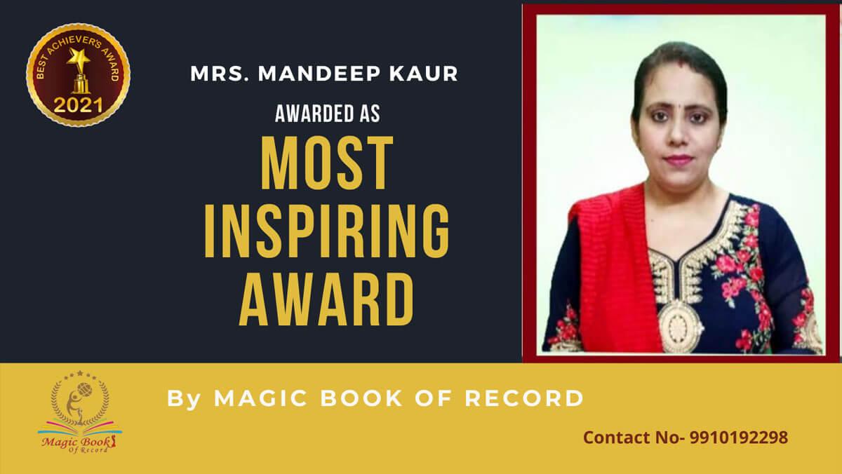 Mandeep Kaur- Chandigarh-Magic Book of Record