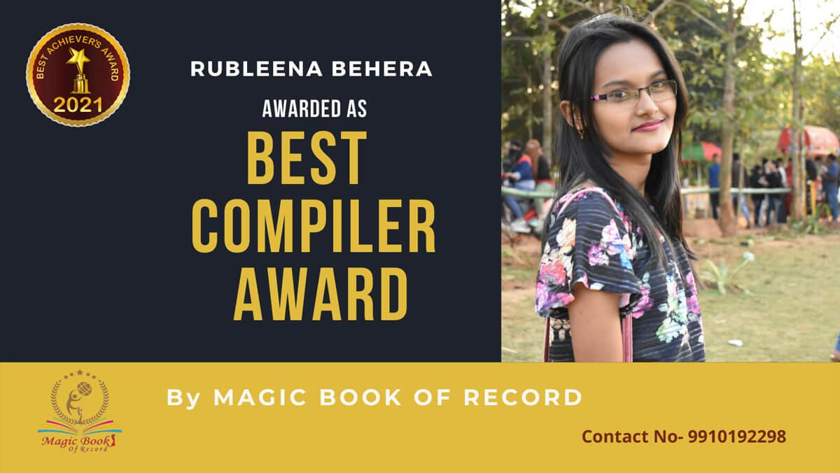 Rubleena Behera-Odisha-Magic Book of Record