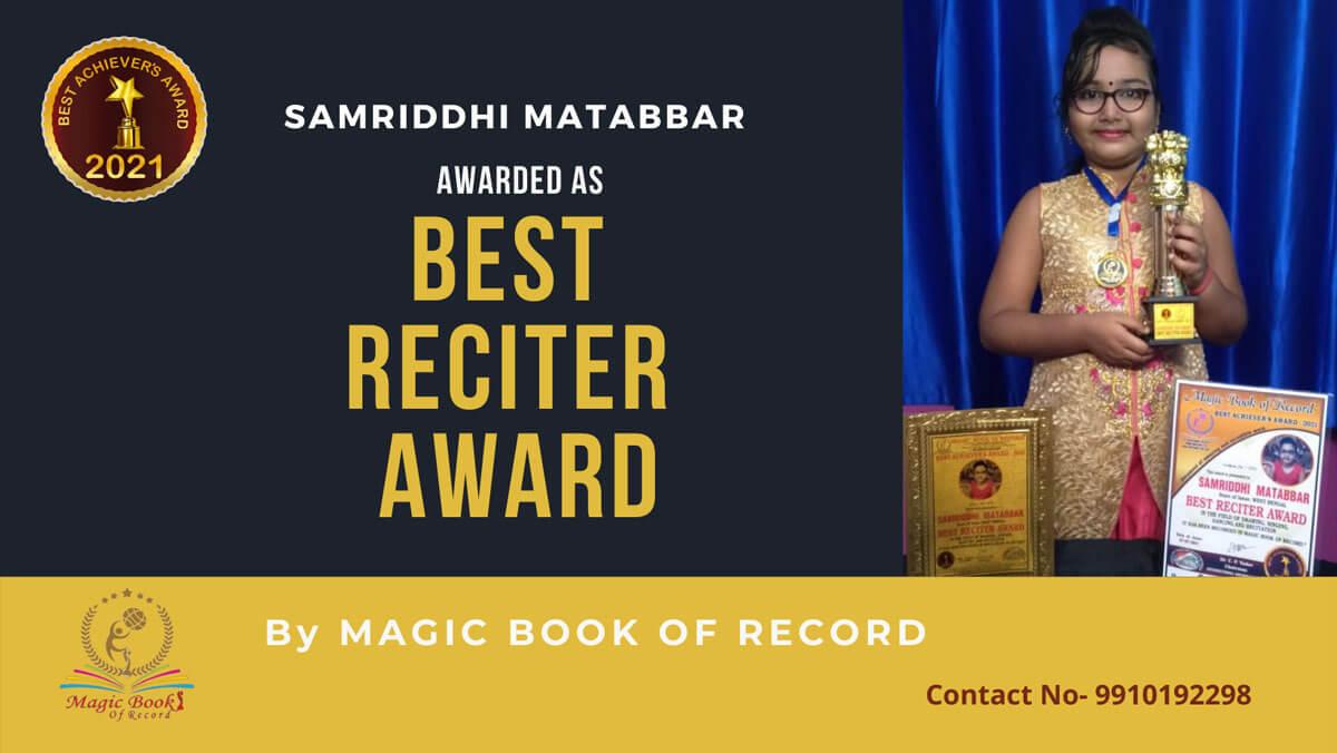 Samriddhi Matabbar-West Bengal-Magic Book of Record
