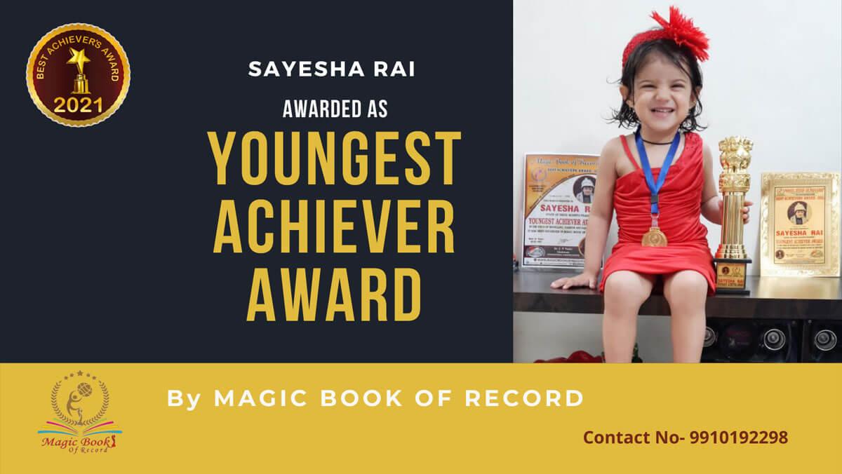 Sayesha Rai- Madhya Pradesh-Magic Book of Record