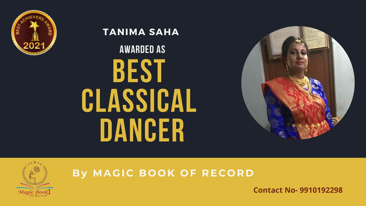 Tanima Saha-Classical Dancer-West Bengal-Magic Book of Record