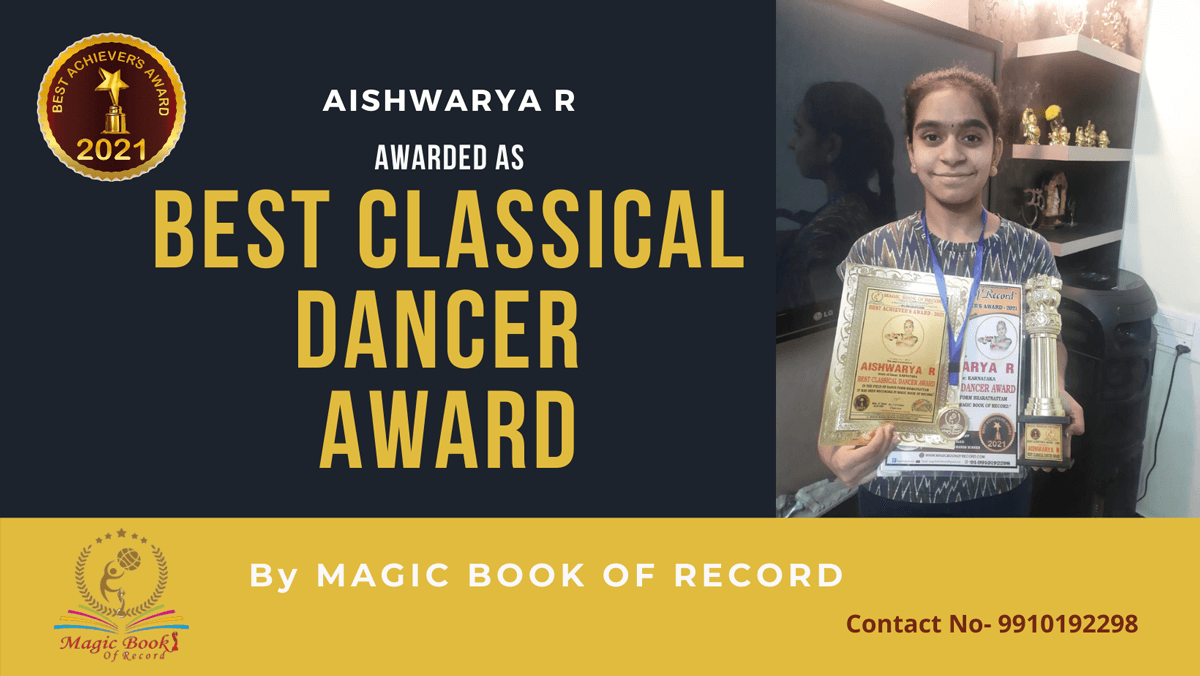 Aishwarya R-Karnataka-Magic Book of Record