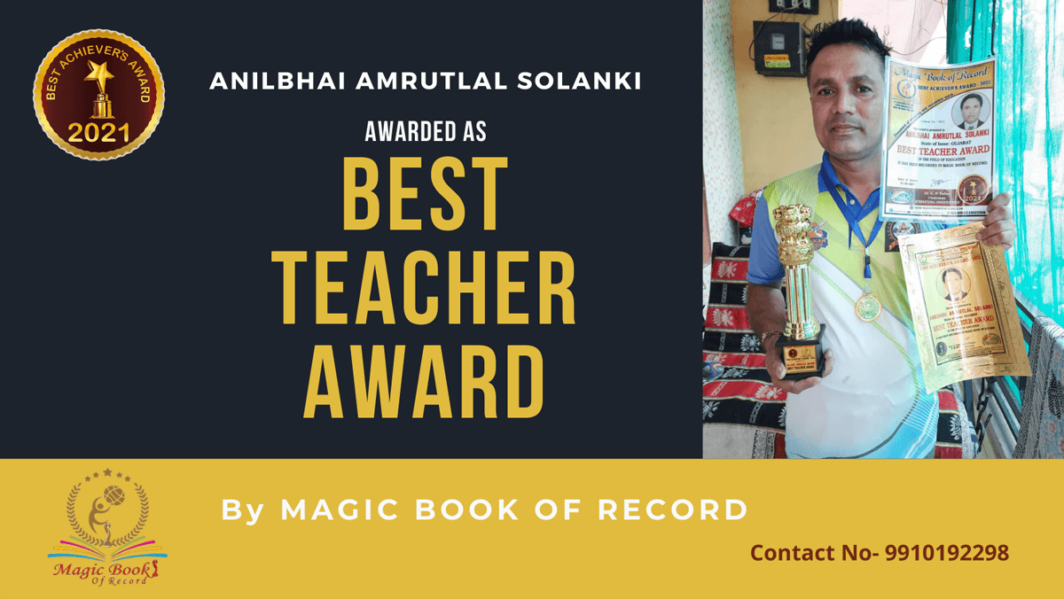 Anilbhai Amrutlal Solanki-Gujarat-Magic Book of Records