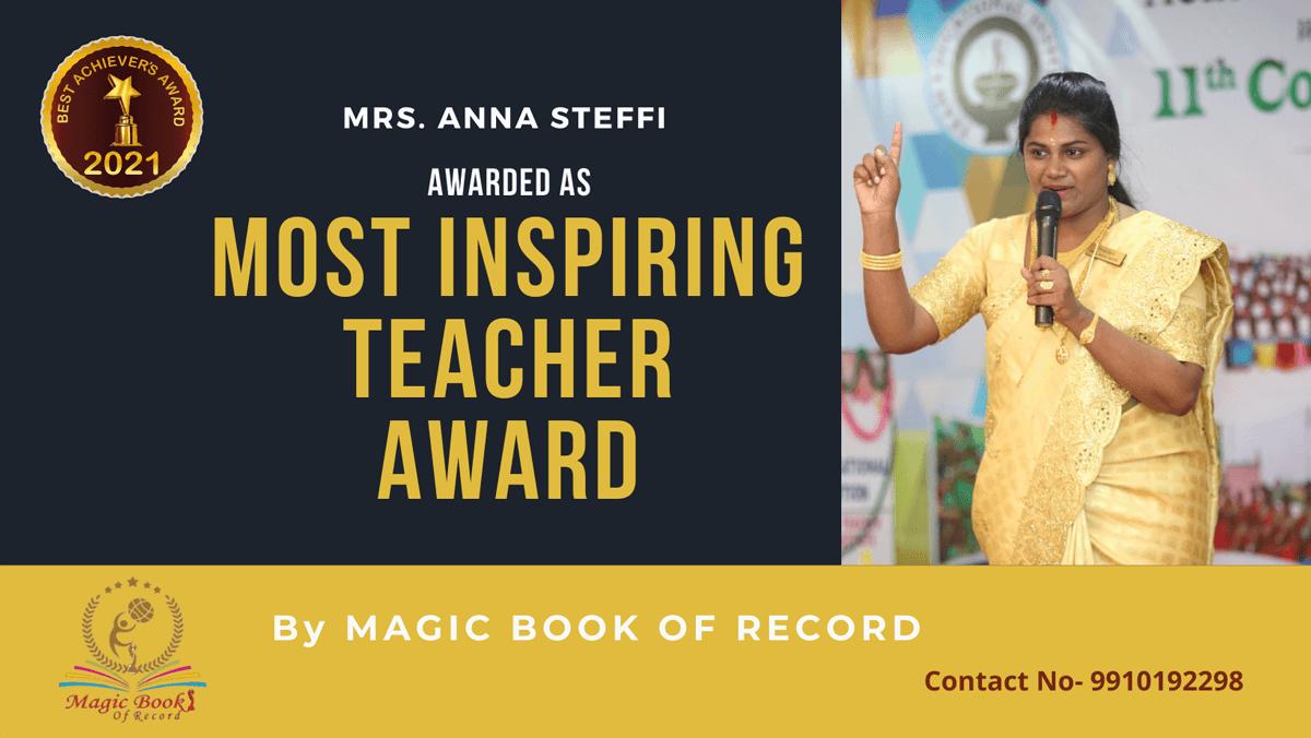 Anna Steffi-Tamil Nadu-Magic Book of Record