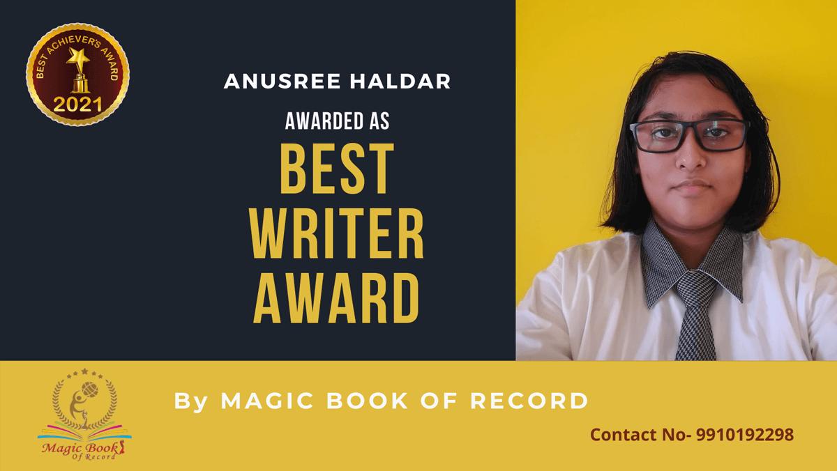 Anusree Haldar-West Bengal-Magic Book of Record