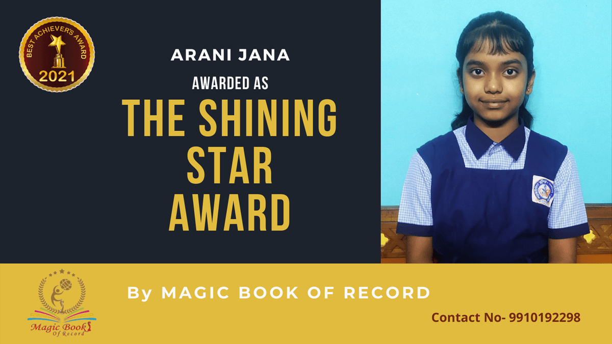 Arani Jana-West Bengal-Magic Book of Record