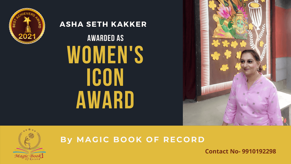 Asha Seth Kakker-Delhi-Magic Book of Record