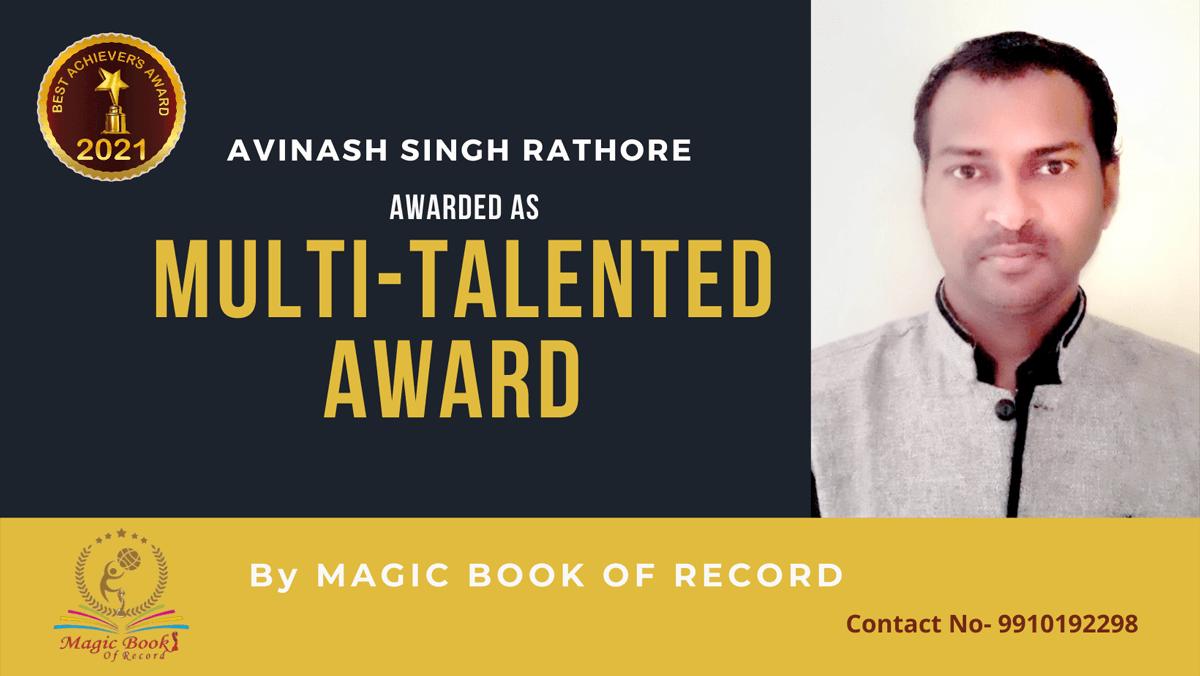 Avinash Singh Rathore-Chhattisgarh-Magic Book of Record