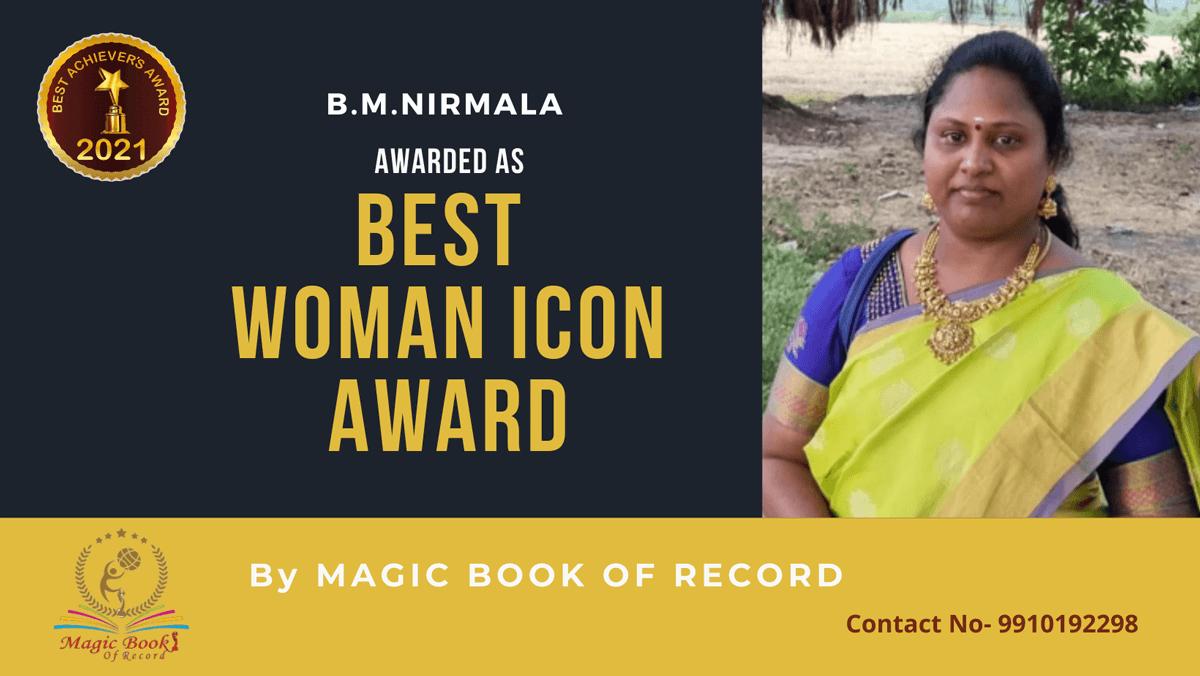 B.M.Nirmala-Tamil Nadu-Magic Book of Record