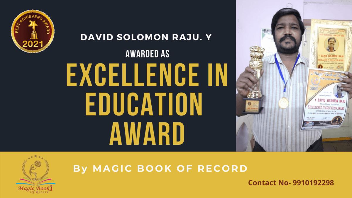 David Solomon Raju. Y-Telengana-Magic Book of Record