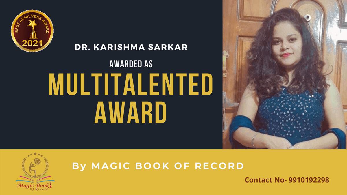 Dr. Karishma Sarkar-Assam-Magic Book of Record