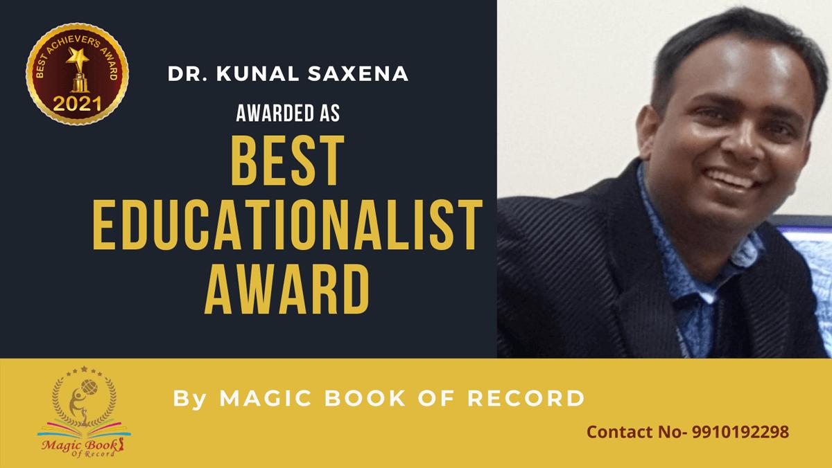 Dr. Kunal Saxena-Karnataka-Magic Book of Record