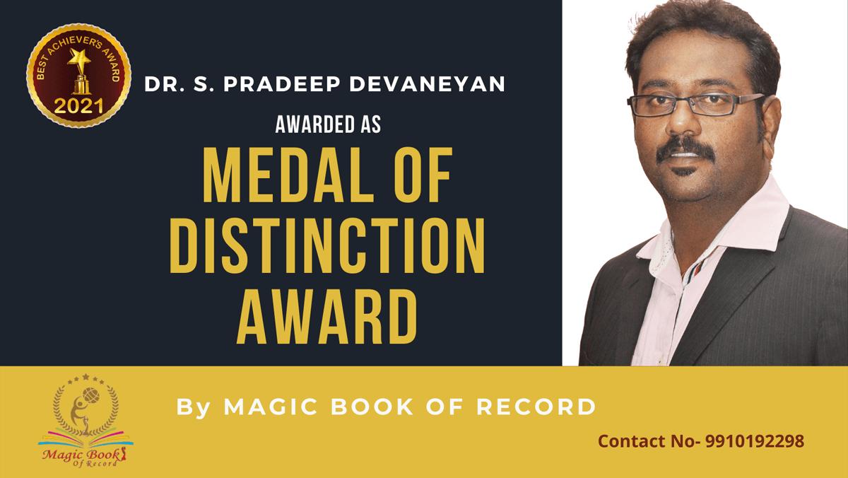 Dr.S.Pradeep Devaneyan-Pondicherry-Magic Book of Record