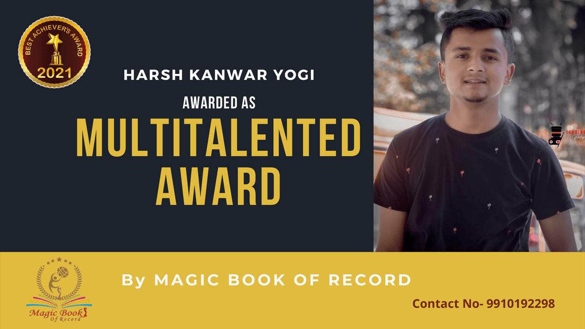 Harsh Kanwar Yogi-Himachal Pradesh-Magic Book of Record