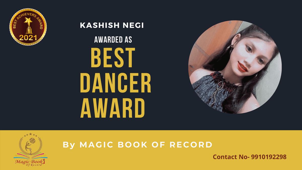 Kashish negi-Uttarakhand-Magic Book of Record