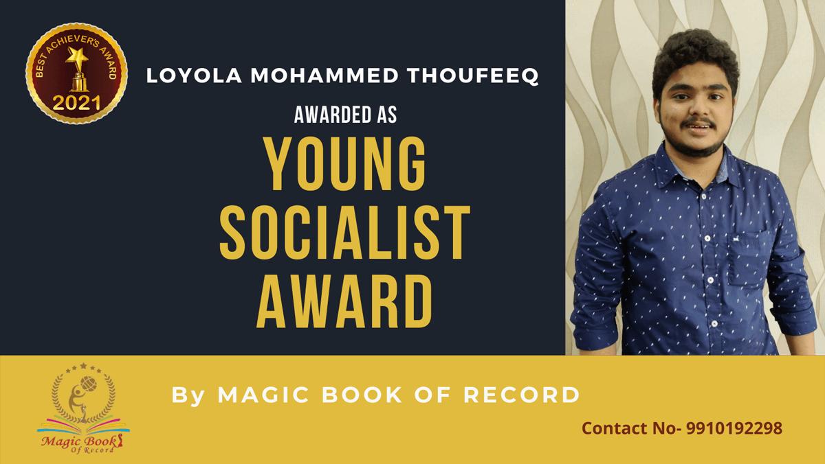 Loyola Mohammed Thoufeeq-Tamil Nadu-Magic Book of Record
