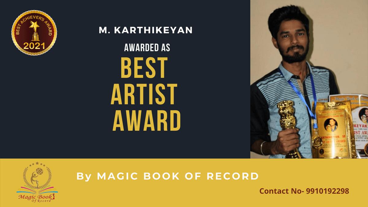 M. Karthikeyan-Tamil Nadu-Magic Book of Record