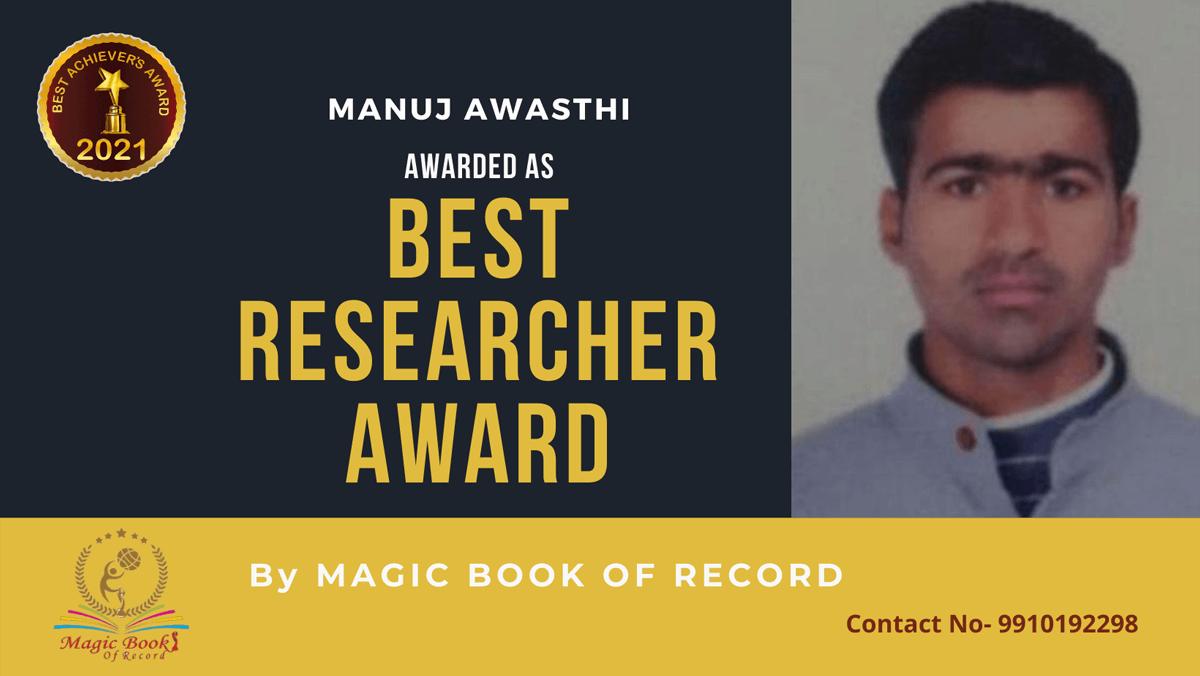 Manuj Awasthi-Uttar Pradesh-Magic Book of Record