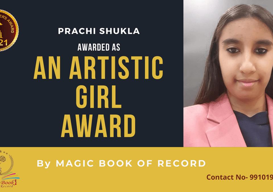 Prachi Shukla-Uttar Pradesh-Magic Book of Record