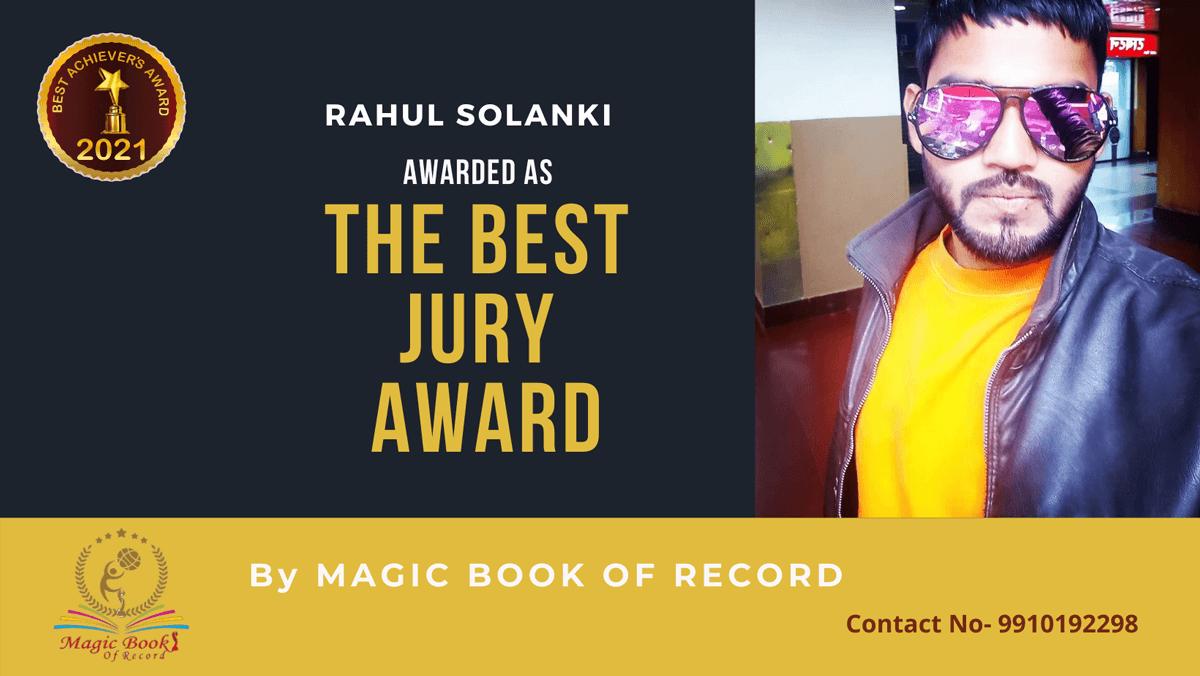 Rahul Solanki-Haryana-Magic Book of Record