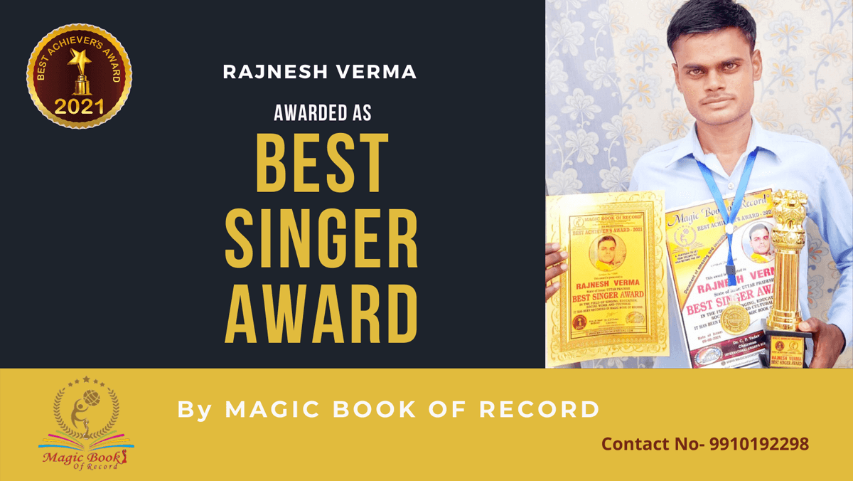 Rajnesh Verma-Uttar Pradesh-Magic Book of Record