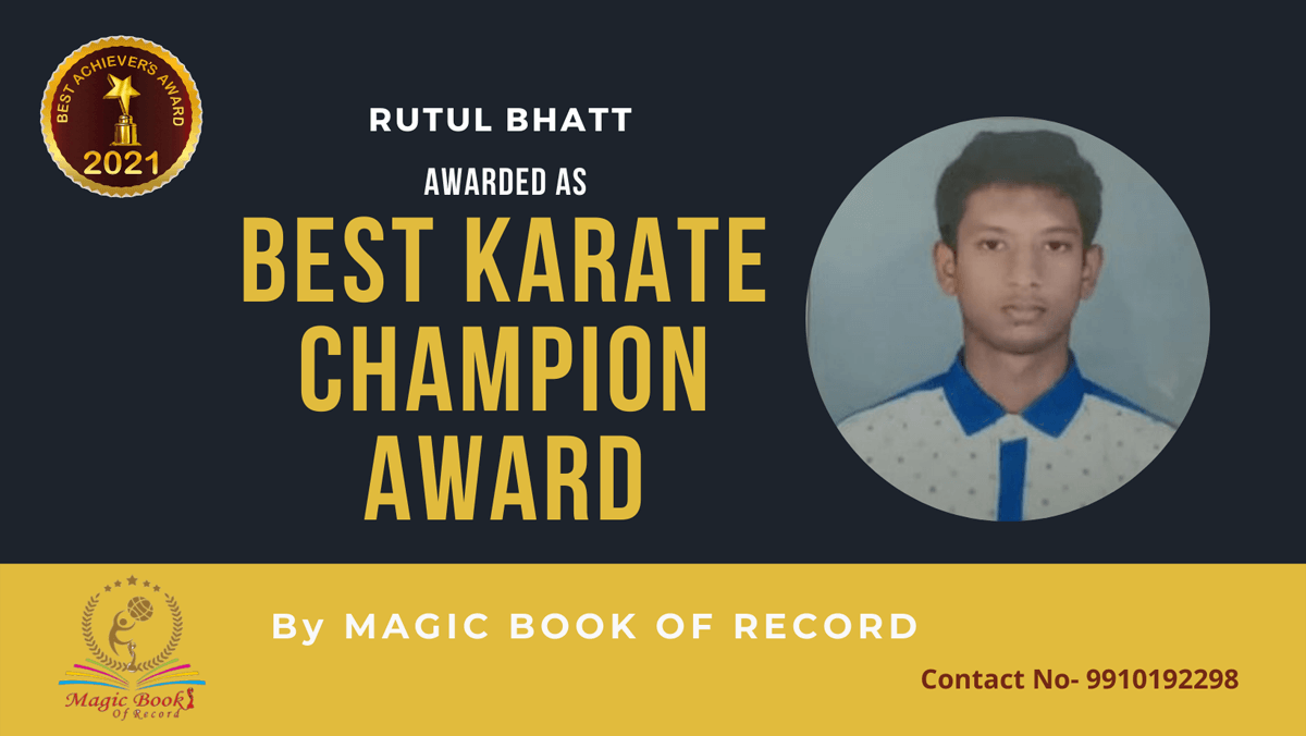 Rutul Bhatt-Gujarat-Magic Book of Record