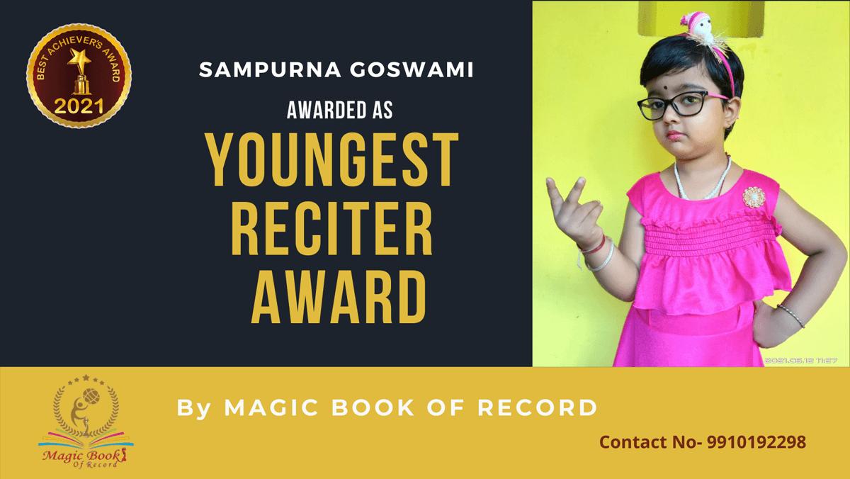 Sampurna Goswami-West Bengal-Magic Book of Record